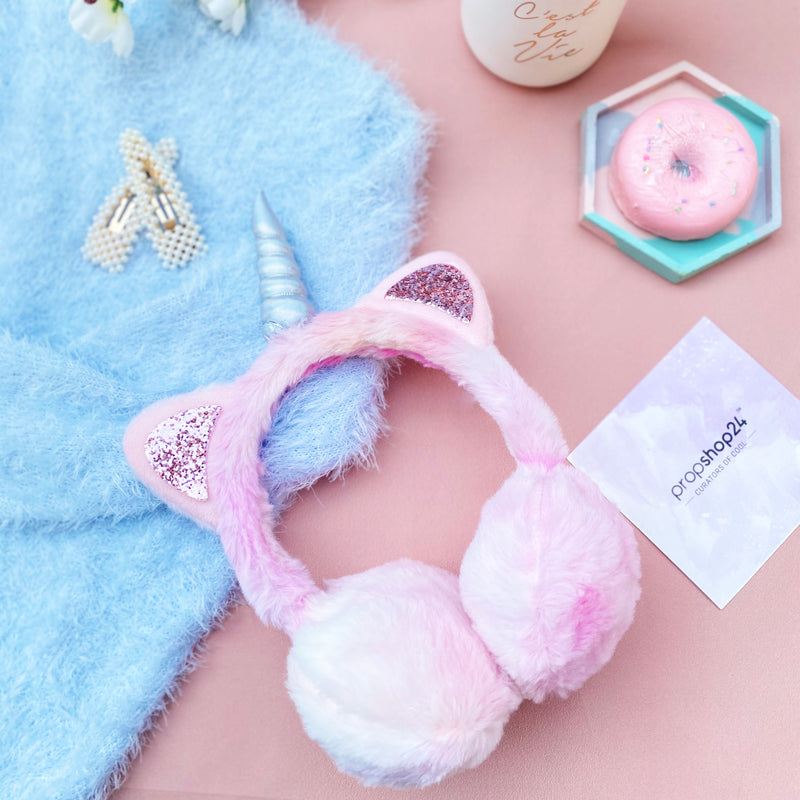 Unicorn Earmuffs - Colourful-HAIR ACCESSORIES + BODY JEWELLERY-PropShop24.com