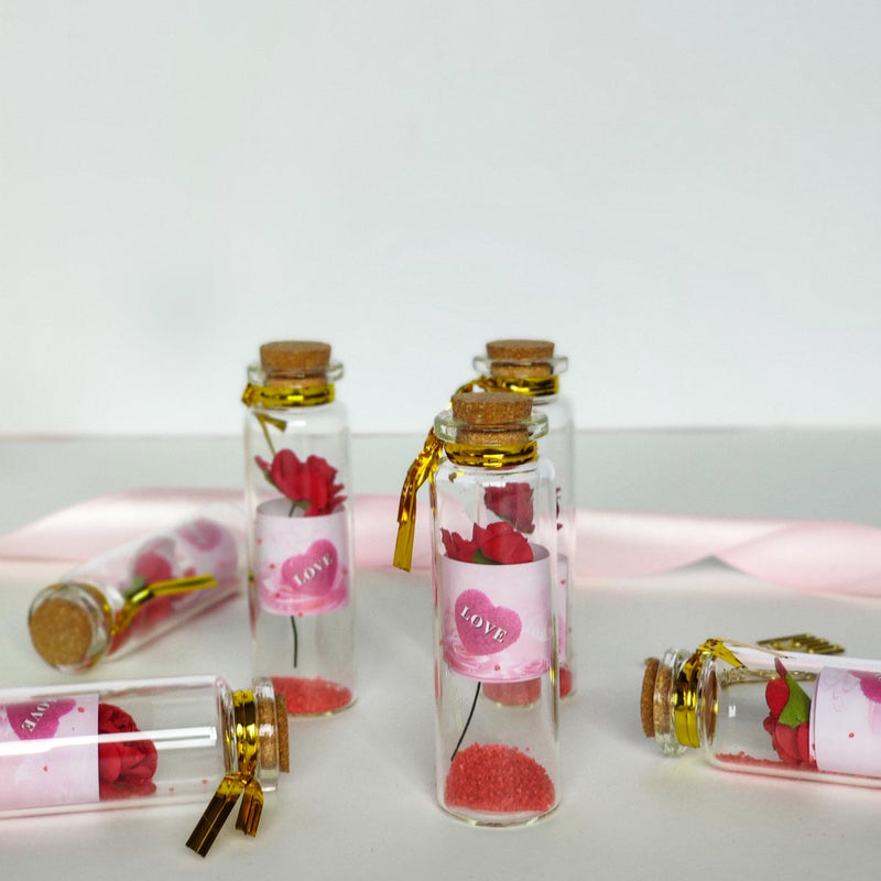 Love Mason Jar - Rose - Set Of 6-GREETING CARDS-PropShop24.com