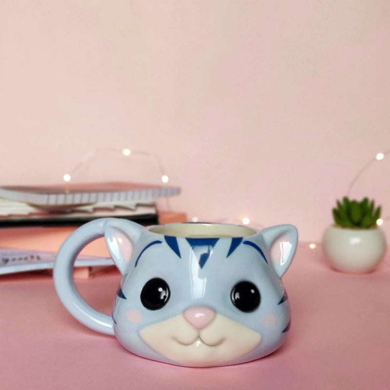 3D Cat Mug - Blue-DINING + KITCHEN-PropShop24.com