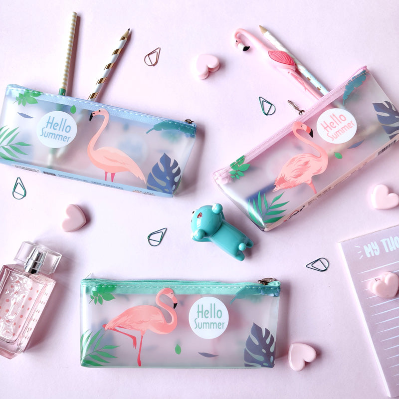 Transparent Pouch - Flamingo-WOMEN-PropShop24.com