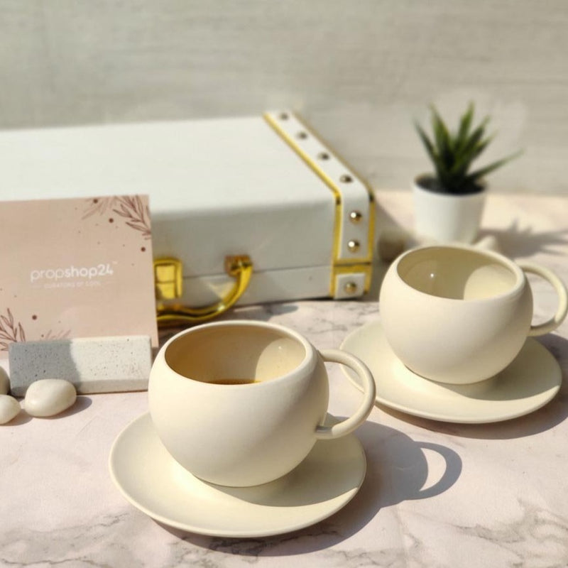 Ceramic Cup And Saucer Set-DINING + KITCHEN-PropShop24.com