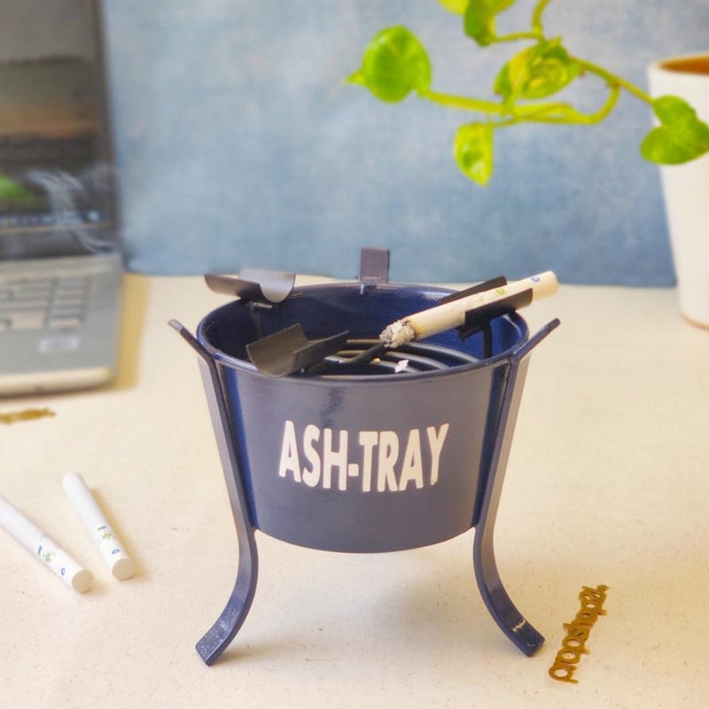 Ash Tray - Blue - Single Piece-BAR + PARTY-PropShop24.com