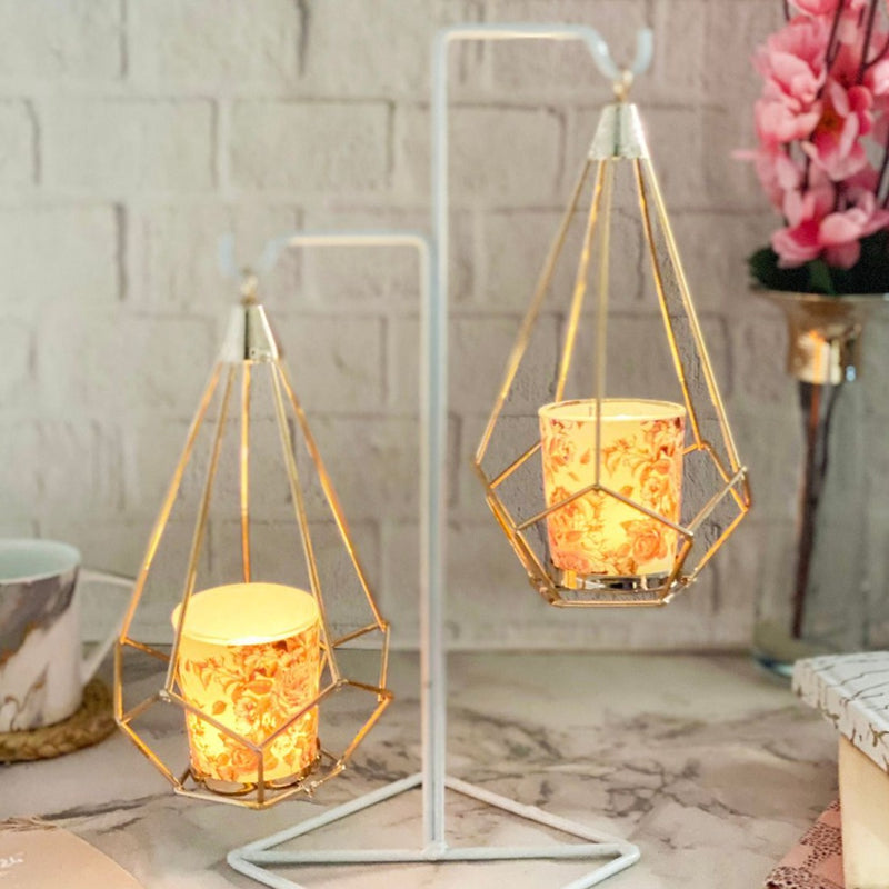 Metallic Candle Holder-CANDLES + AROMA-PropShop24.com