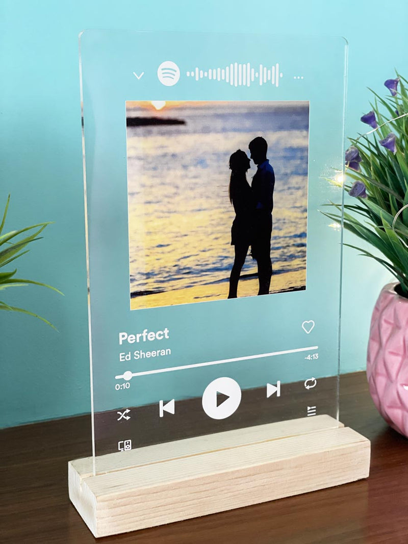 Personalized - Photo Frame And Song Request With Wooden Stand - C.O.D. Not Available-HOME ACCESSORIES-PropShop24.com