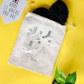Vintage Drawstring Sock Bag-FASHION-PropShop24.com