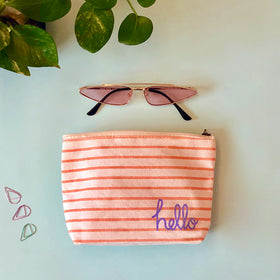 Travel Pouch - Peach Stripe-FASHION-PropShop24.com