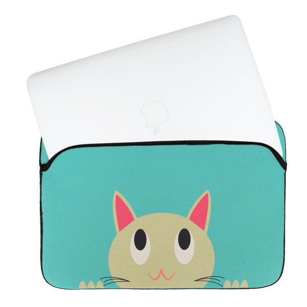 Laptop Sleeve - Absolutely Purrfect - Green-Gadgets-PropShop24.com