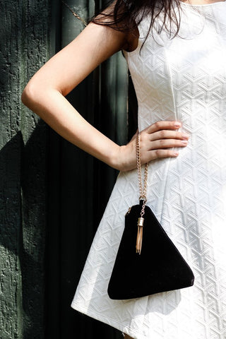 Clutch - Pyramid - Black-FASHION-PropShop24.com