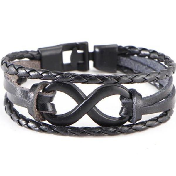 Bracelet - Infinity Leather-FASHION-PropShop24.com