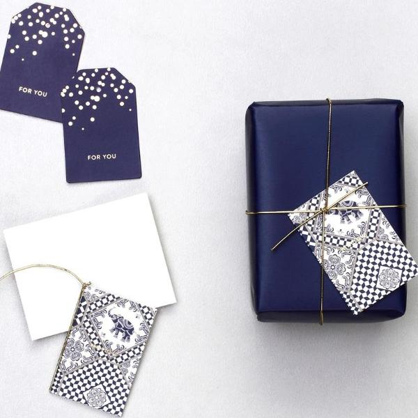 Gift Tags - Indigo Elephants-GIFTING ACCESSORIES-PropShop24.com
