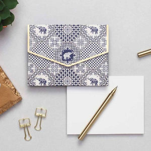Notecard Set - Indigo Elephants-GIFTING ACCESSORIES-PropShop24.com