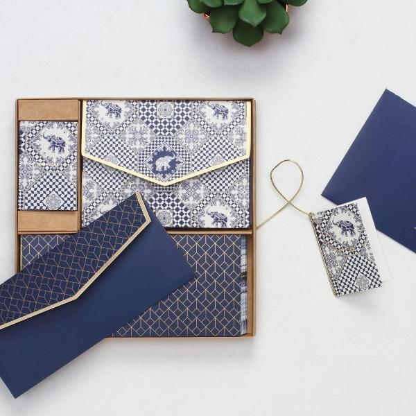 Indigo Elephant Boxed Set-GIFTING ACCESSORIES-PropShop24.com
