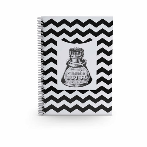 Spiral Notebook Large -Chevron Ink Pot-STATIONERY-PropShop24.com