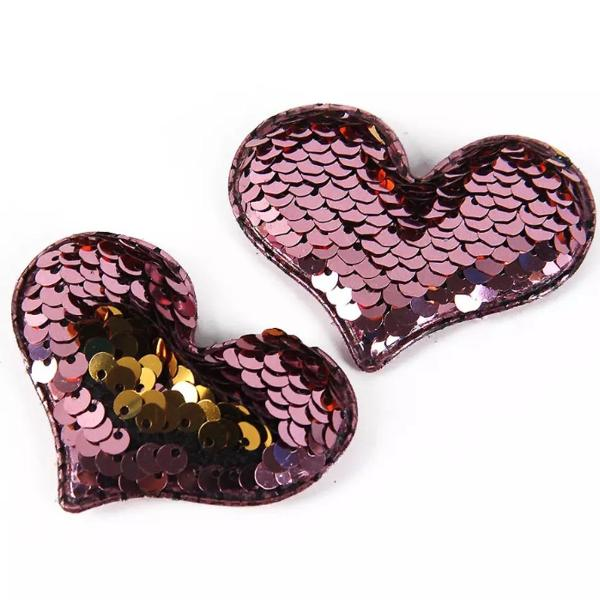 Heart Bling Iron on Patches - Set of 2-FASHION-PropShop24.com