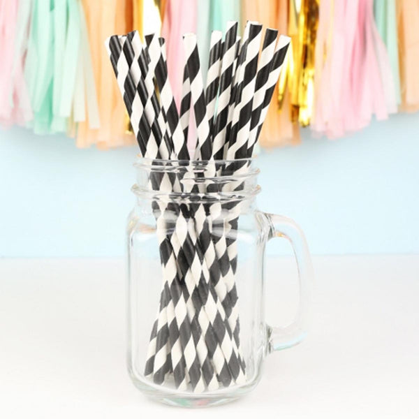 Black And White - Paper Straws - Set Of 10-KITCHEN-PropShop24.com