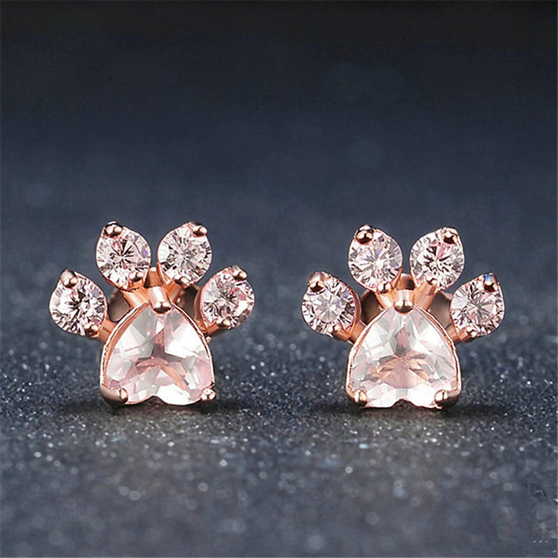 Earrings - Paw Studs - Rosegold-EARRINGS-PropShop24.com