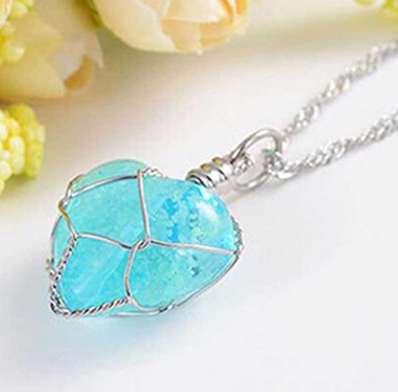Glow In The Dark Crystal Heart Pendant-NECKLACE-PropShop24.com