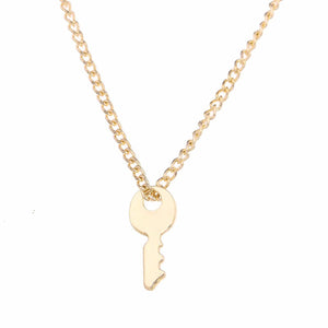 Pendant - Confidence Is Key - Gold-NECKLACE-PropShop24.com