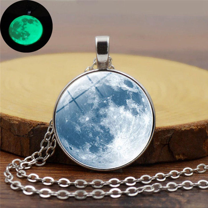 Pendant - Glow In The Dark - Moon - Blue-NECKLACE-PropShop24.com