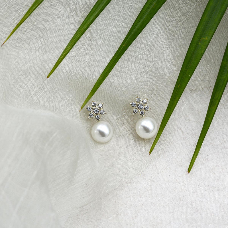 Gracia Silver Earrings-EARRINGS-PropShop24.com