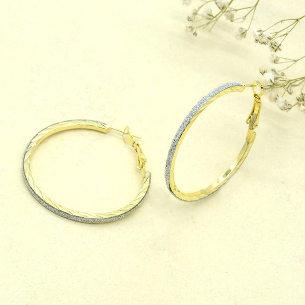 Bling Textured Gold Hoops-EARRINGS-PropShop24.com