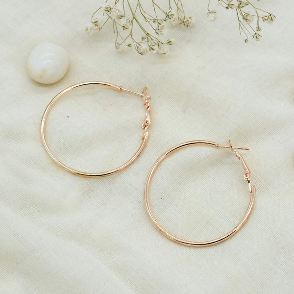 Mila Minimal Gold Hoop Earrings-EARRINGS-PropShop24.com