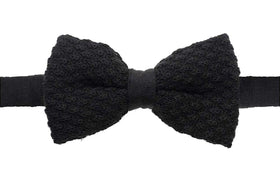 Knitted Bow Tie - Black-FASHION-PropShop24.com