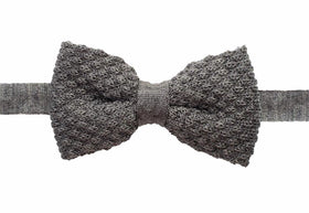 Knitted Bow Tie - Grey-FASHION-PropShop24.com