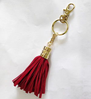 Personalized - Monogram Deep Red Suede Tassel - C.O.D Not Available-WOMEN-PropShop24.com