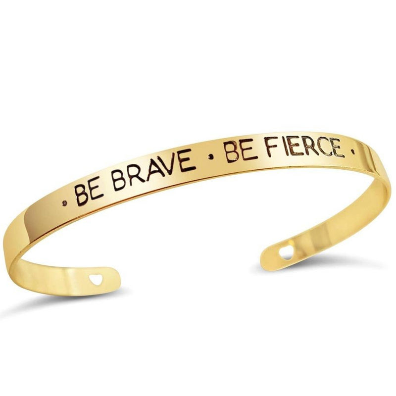 Positivity Bangle - Be Brave Be Fierce-BANGLES + CUFFS + BRACELETS-PropShop24.com
