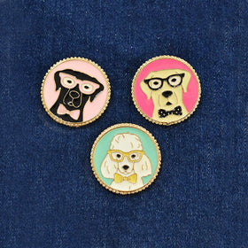 Badges - Puppy Love - Set Of 3-FASHION-PropShop24.com