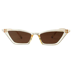 Sunglasses - Kylie Micro Cat Eye Light Brown-FASHION-PropShop24.com