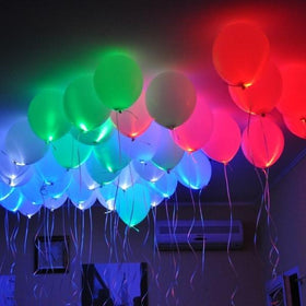 LED Balloons - Set of 5 - Assorted-PERSONAL-PropShop24.com