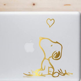 Metallic Sticker For Laptop- Snoopy-GADGETS-PropShop24.com