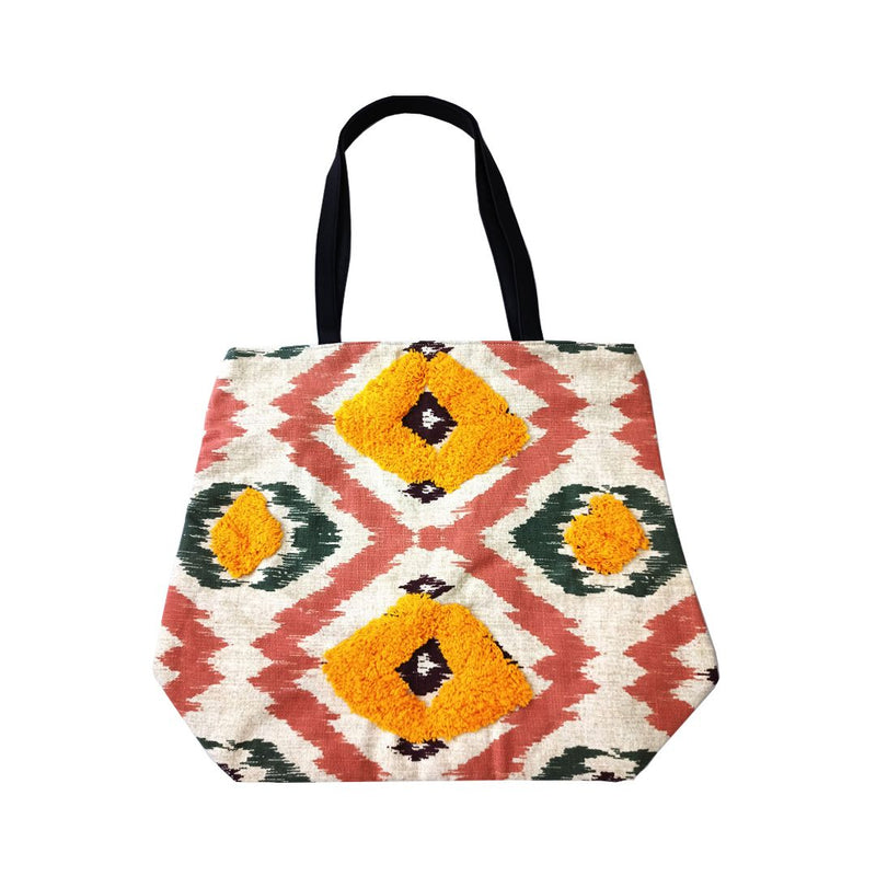Handbag - Woven Jacquard - Thread Detail Tote Bag-WOMEN-PropShop24.com