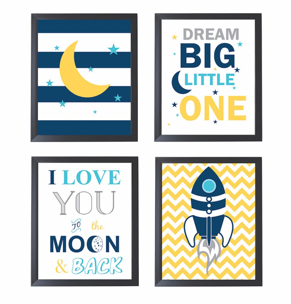 Frames - Dream big little one frames - Set of 4 – PropShop24.com