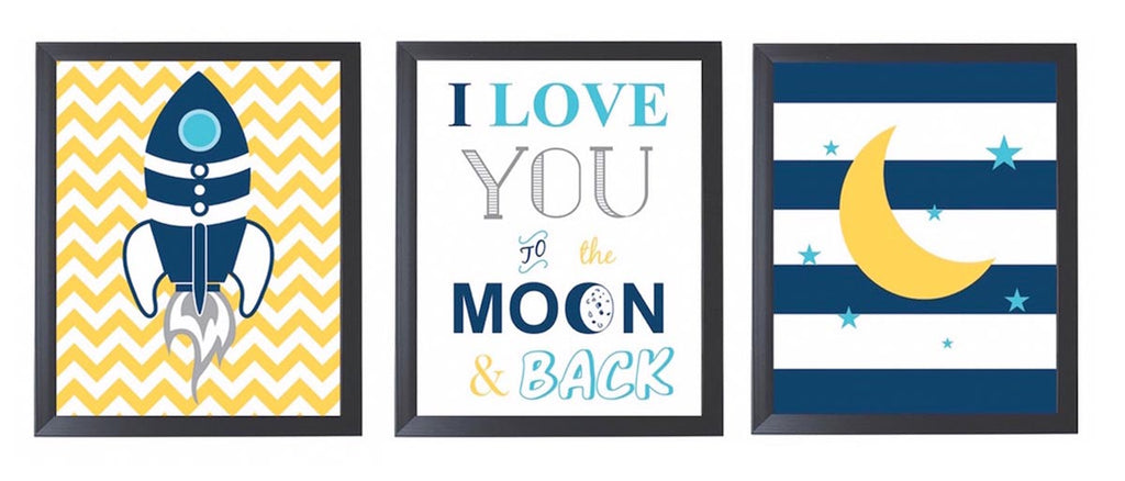 Frames - Love you to the moon - Set of 3 frames – PropShop24.com