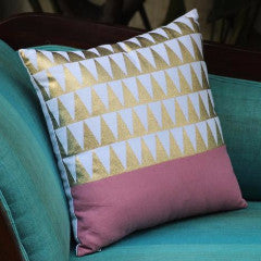 cushion cover - gold foil