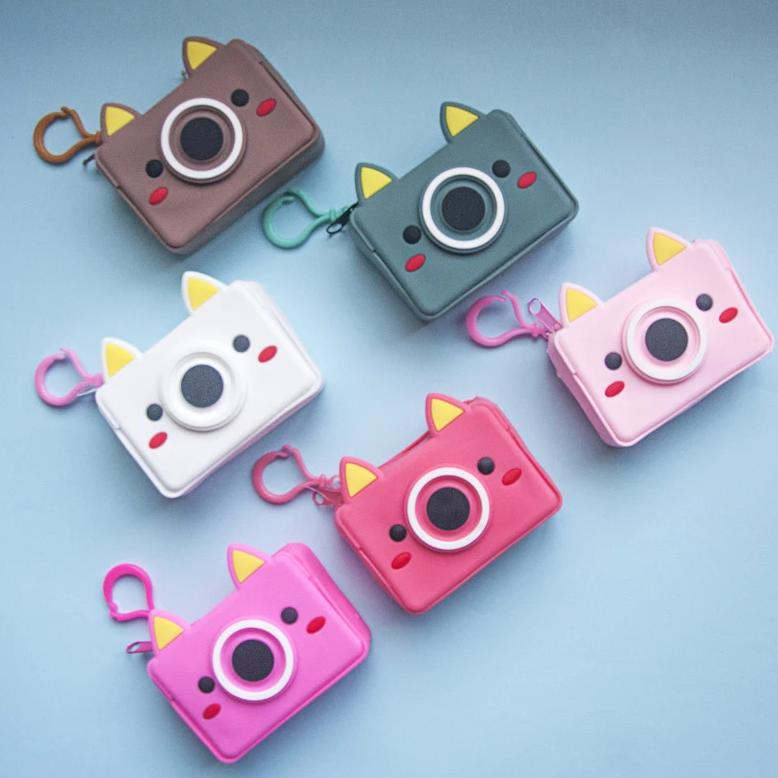 Waterproof Keychain Pouch - Quirky Camera-WOMEN-PropShop24.com