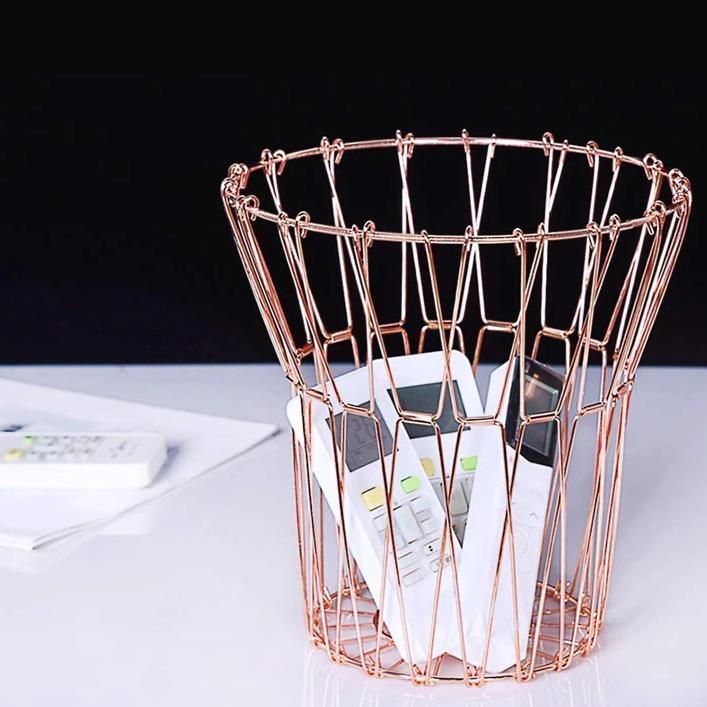 Multipurpose Foldable Basket - Rose Gold-HOME ACCESSORIES-PropShop24.com