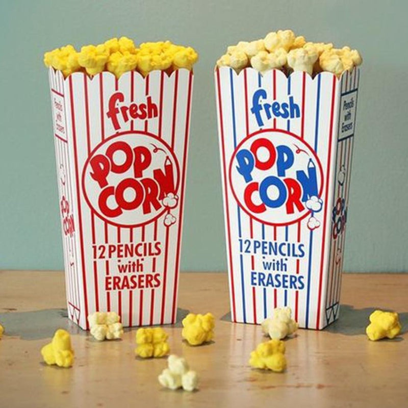 Popcorn Pencils - Set Of 12-PENS + PENCILS + PAPER CLIPS-PropShop24.com
