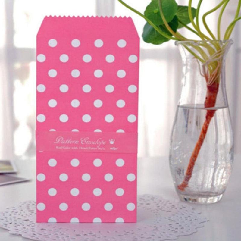 Vintage Envelopes - Pink Dots - Set Of 5-GIFTING ACCESSORIES-PropShop24.com