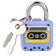 Mini Lock And Key - Cassette Shape - Blue
