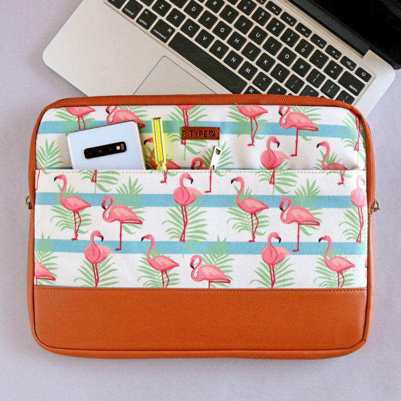 Laptop Sleeve - Flamingo Tropical-LAPTOP SLEEVES-PropShop24.com