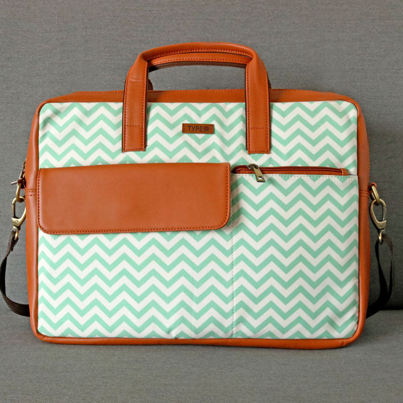 Laptop Bag - Green Chevron-WOMEN-PropShop24.com