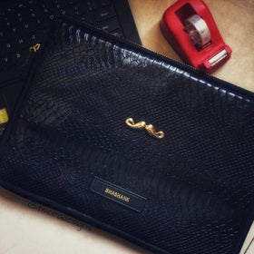 Personalized Croco Black Laptop Sleeve- C.O.D Not Available-GADGETS-PropShop24.com