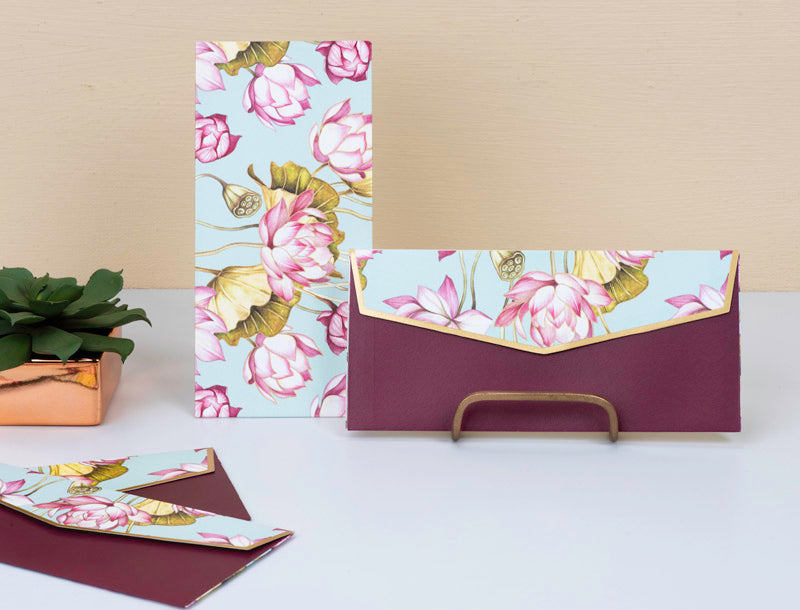 Money Envelopes - Lotus - Set Of 20-GIFTING ACCESSORIES-PropShop24.com