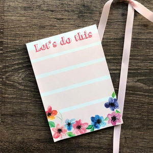 Magnetic Notepad - Let'S Do This Floral-NOTEBOOKS + JOURNALS-PropShop24.com