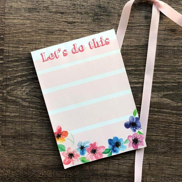 Magnetic Notepad - Let'S Do This Floral-Stationery-PropShop24.com