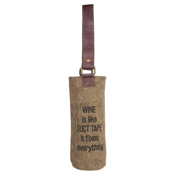 Duct Tape Wine Bag Up-Cycled Canvas-HOME-PropShop24.com